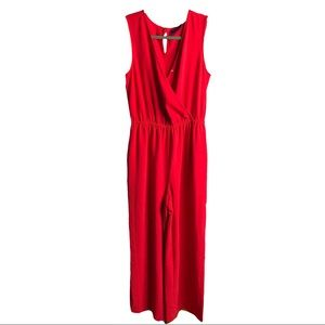 APT.9 red sleeveless jumpsuit size small new